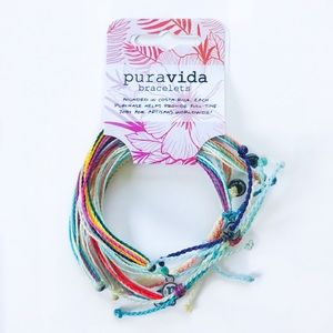 NWT 5 Pack Pura Vida bracelets classic set multi